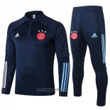 Ensemble Survetement Sweat Ajax 2020-2021 Bleu