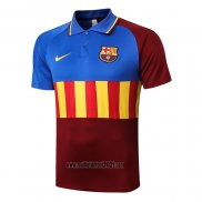 Maillot Polo FC Barcelone 2020-2021 Bleu Y Brown