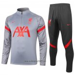 Ensemble Survetement Sweat Liverpool 2020-2021 Gris